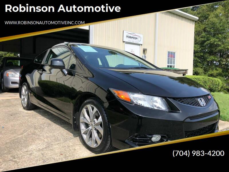 2012 Honda Civic for sale at Robinson Automotive in Albemarle NC