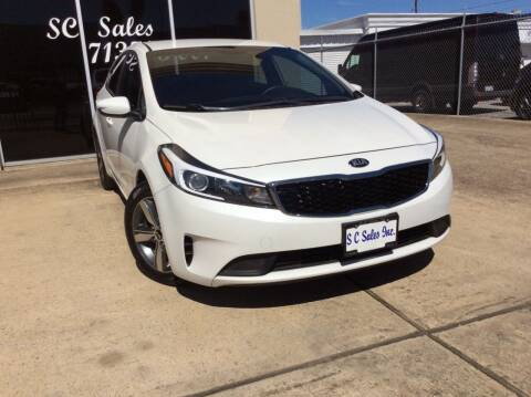 2018 Kia Forte for sale at SC SALES INC in Houston TX