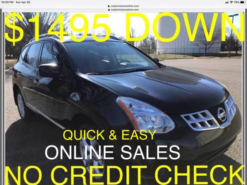 2011 Nissan Rogue for sale at Cooks Motors in Westampton NJ