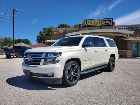 2015 Chevrolet Suburban for sale at A MOTORS SALES AND FINANCE - 10110 West Loop 1604 N in San Antonio TX