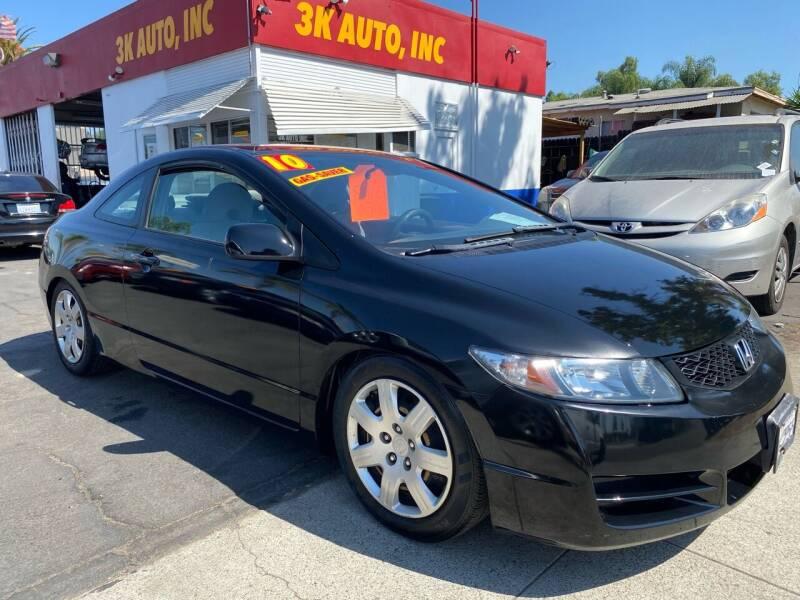 2010 Honda Civic for sale at 3K Auto in Escondido CA