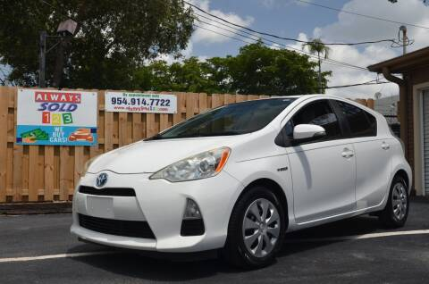 2012 Toyota Prius c for sale at ALWAYSSOLD123 INC in Fort Lauderdale FL