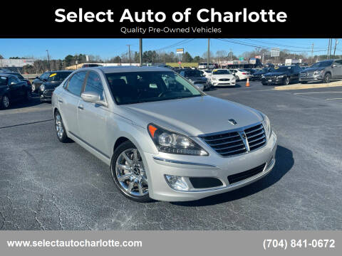 2012 Hyundai Equus for sale at Select Auto of Charlotte in Matthews NC