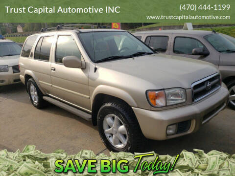 2001 Nissan Pathfinder for sale at Trust Capital Automotive Inc. in Covington GA