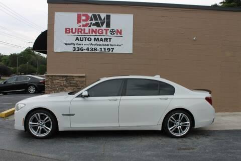 2013 BMW 7 Series for sale at Burlington Auto Mart in Burlington NC