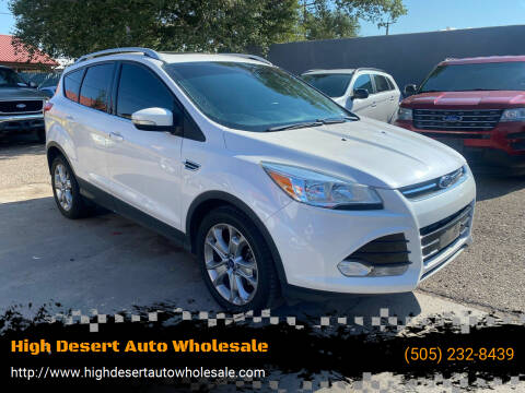 2015 Ford Escape for sale at High Desert Auto Wholesale in Albuquerque NM