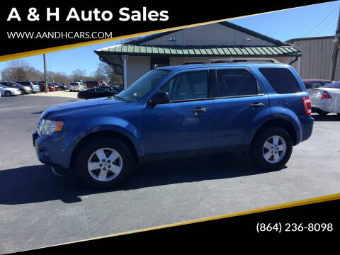 2010 Ford Escape for sale at A & H Auto Sales in Greenville SC
