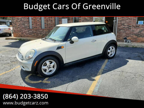 2009 MINI Cooper for sale at Budget Cars Of Greenville in Greenville SC