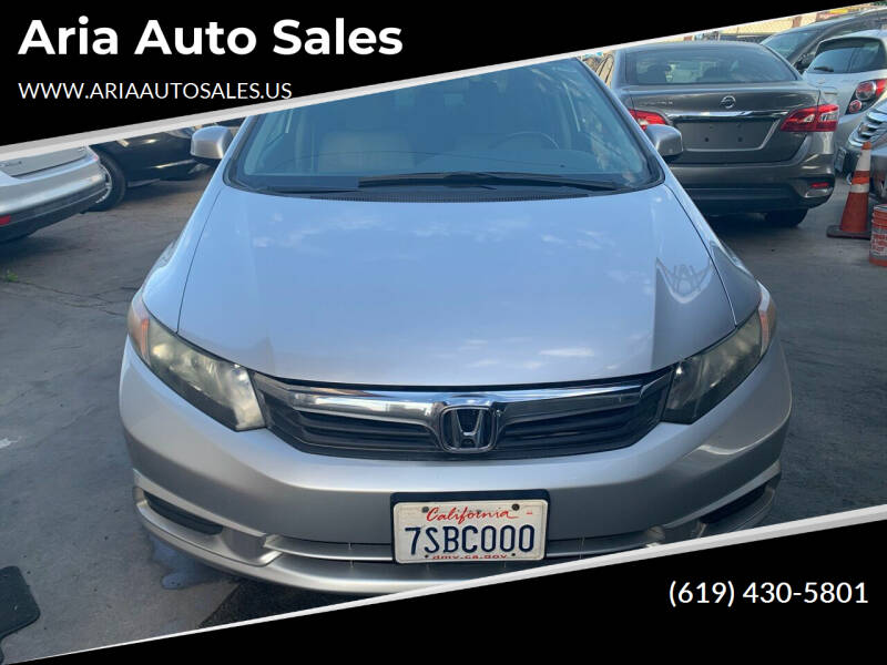 2012 Honda Civic for sale at Aria Auto Sales in El Cajon CA