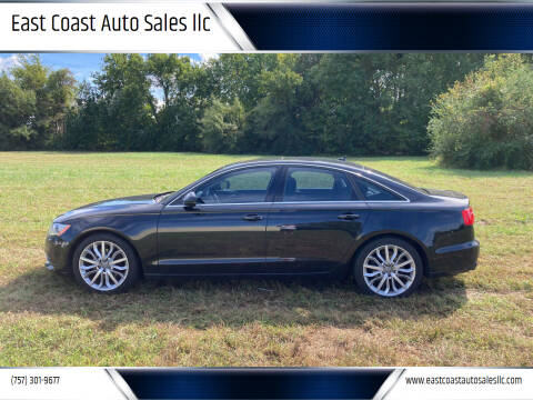 2013 Audi A6 for sale at East Coast Auto Sales llc in Virginia Beach VA