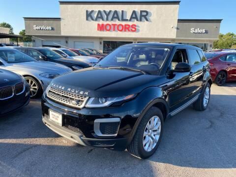 2017 Land Rover Range Rover Evoque for sale at KAYALAR MOTORS in Houston TX