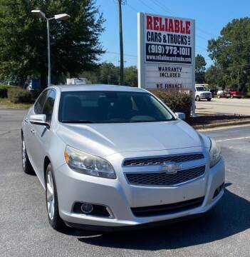 2013 Chevrolet Malibu for sale at Reliable Cars & Trucks LLC in Raleigh NC