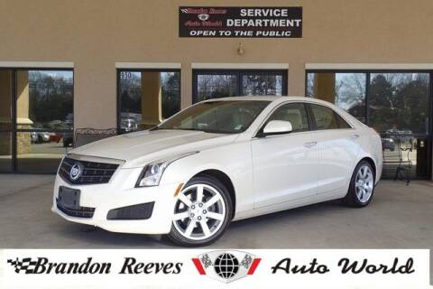 2013 Cadillac ATS for sale at Brandon Reeves Auto World in Monroe NC