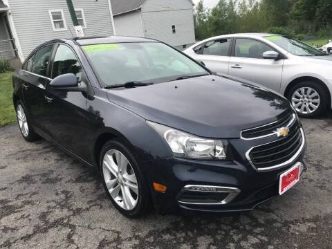 2015 Chevrolet Cruze for sale at FUSION AUTO SALES in Spencerport NY