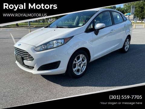 2016 Ford Fiesta for sale at Royal Motors in Hyattsville MD