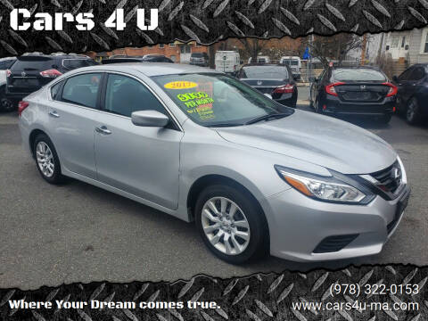 2017 Nissan Altima for sale at Cars 4 U in Haverhill MA