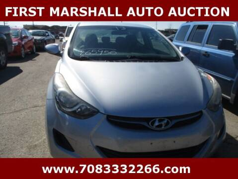 2013 Hyundai Elantra for sale at First Marshall Auto Auction in Harvey IL