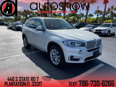 2018 BMW X5 for sale at AUTOSHOW SALES & SERVICE in Plantation FL