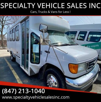 2004 Ford E-Series Chassis for sale at SPECIALTY VEHICLE SALES INC in Skokie IL