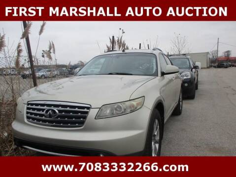 2008 Infiniti FX35 for sale at First Marshall Auto Auction in Harvey IL
