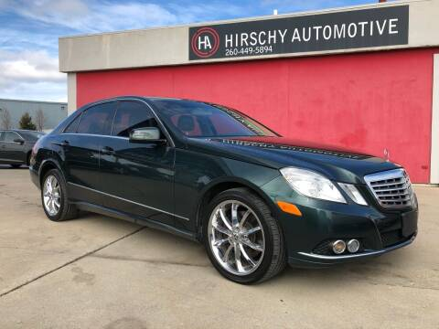 2010 Mercedes-Benz E-Class for sale at Hirschy Automotive in Fort Wayne IN