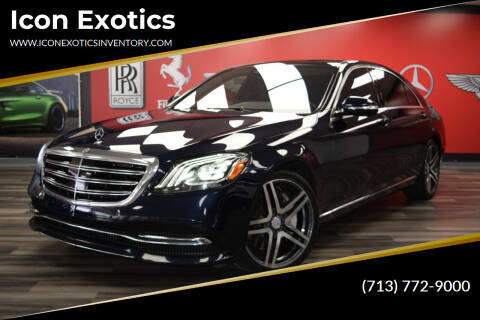 2018 Mercedes-Benz S-Class for sale at Icon Exotics in Houston TX