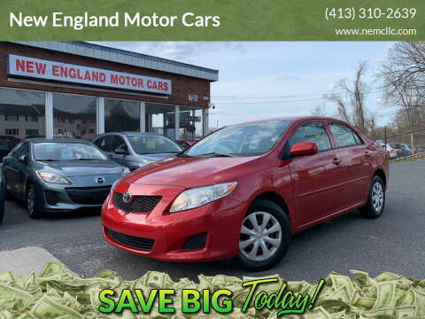 2009 Toyota Corolla for sale at New England Motor Cars in Springfield MA