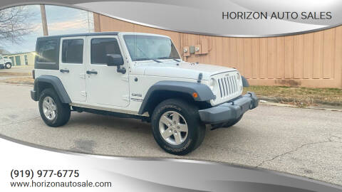 2016 Jeep Wrangler Unlimited for sale at Horizon Auto Sales in Raleigh NC