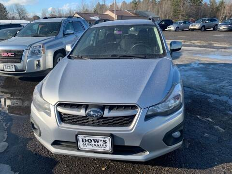 2013 Subaru Impreza for sale at DOW'S AUTO SALES in Palmyra ME