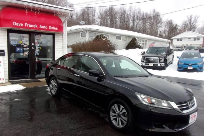 2014 Honda Accord for sale at Dave Franek Automotive in Wantage NJ