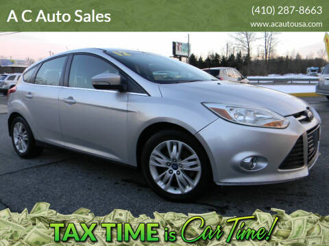 2012 Ford Focus for sale at A C Auto Sales in Elkton MD