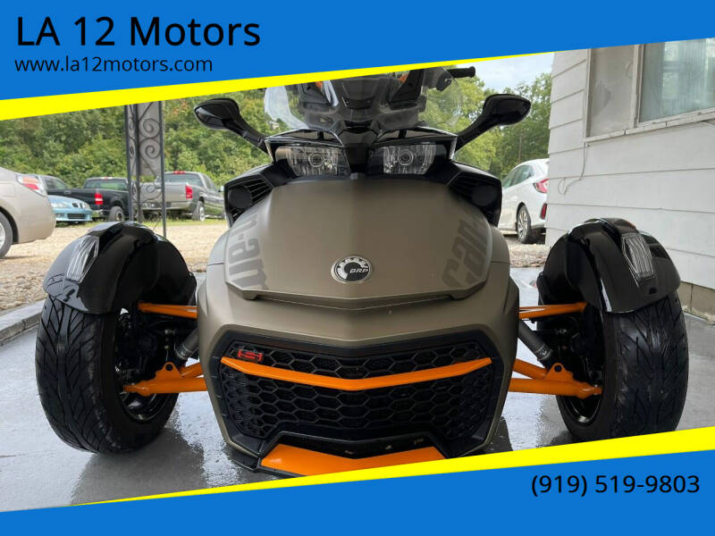 2019 Can-Am Spyder F3 for sale at LA 12 Motors in Durham NC