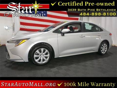 2021 Toyota Corolla for sale at STAR AUTO MALL 512 in Bethlehem PA