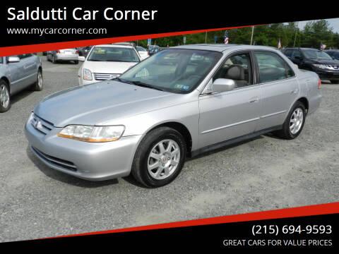 2002 Honda Accord for sale at Saldutti Car Corner in Gilbertsville PA