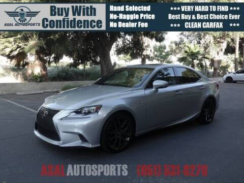 2014 Lexus IS 350 for sale at ASAL AUTOSPORTS in Corona CA