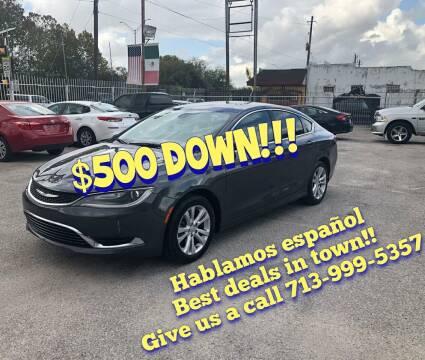 2015 Chrysler 200 for sale at Saipan Auto Sales in Houston TX