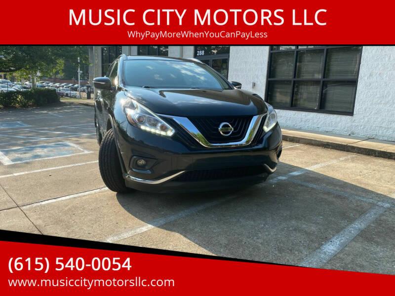 2015 Nissan Murano for sale at MUSIC CITY MOTORS LLC in Nashville TN