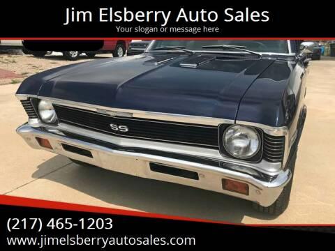 1972 Chevrolet Nova for sale at Jim Elsberry Auto Sales in Paris IL