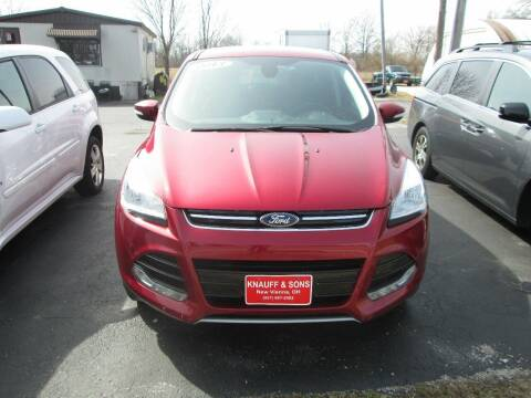 2013 Ford Escape for sale at Knauff & Sons Motor Sales in New Vienna OH