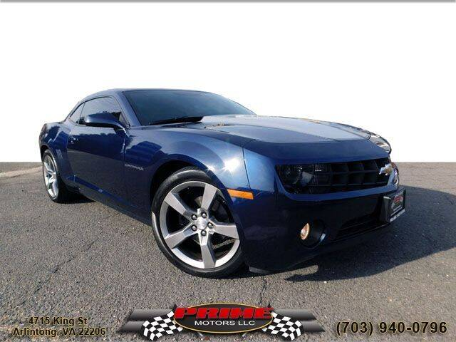 2011 Chevrolet Camaro for sale at PRIME MOTORS LLC in Arlington VA