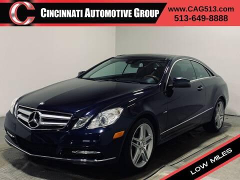 2012 Mercedes-Benz E-Class for sale at Cincinnati Automotive Group in Lebanon OH