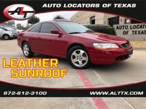 2000 Honda Accord for sale at AUTO LOCATORS OF TEXAS in Plano TX
