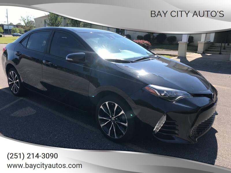 2017 Toyota Corolla for sale at Bay City Auto's in Mobile AL
