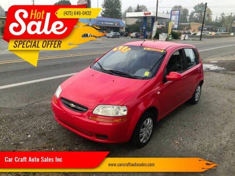 2005 Chevrolet Aveo for sale at Car Craft Auto Sales Inc in Lynnwood WA