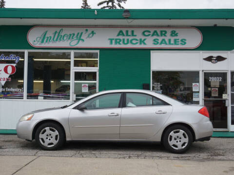 2008 Pontiac G6 for sale at Anthony's All Cars & Truck Sales in Dearborn Heights MI