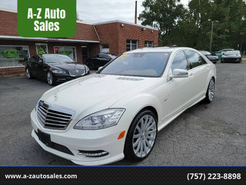 2012 Mercedes-Benz S-Class for sale at A-Z Auto Sales in Newport News VA
