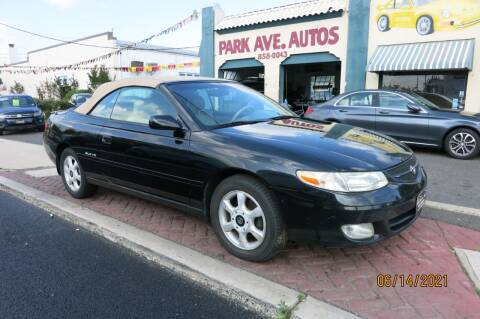 2001 Toyota Camry Solara for sale at PARK AVENUE AUTOS in Collingswood NJ