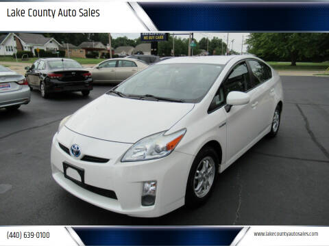 2010 Toyota Prius for sale at Lake County Auto Sales in Painesville OH