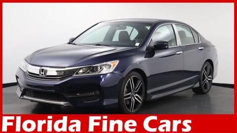 2016 Honda Accord for sale at Florida Fine Cars - West Palm Beach in West Palm Beach FL