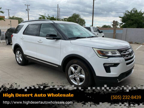2018 Ford Explorer for sale at High Desert Auto Wholesale in Albuquerque NM